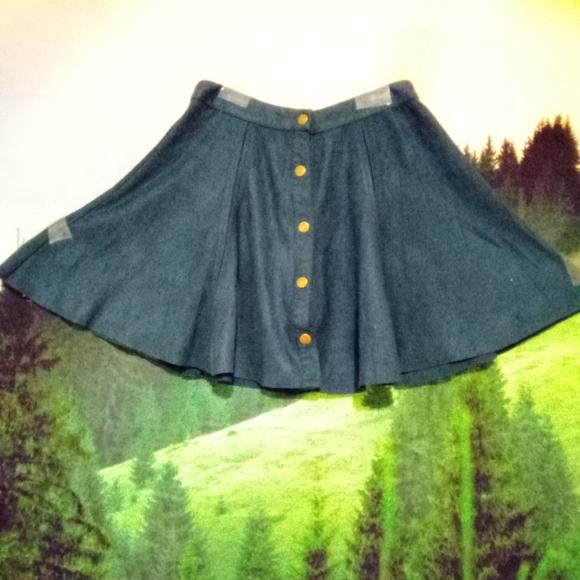 Design Lab Lord & Taylor Skater Mini Skirt